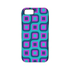 Blue Purple Squares Pattern Apple Iphone 5 Classic Hardshell Case (pc+silicone) by LalyLauraFLM