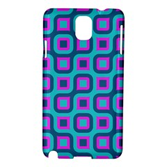 Blue Purple Squares Pattern Samsung Galaxy Note 3 N9005 Hardshell Case by LalyLauraFLM