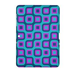 Blue Purple Squares Pattern Samsung Galaxy Tab 2 (10 1 ) P5100 Hardshell Case  by LalyLauraFLM