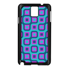 Blue Purple Squares Pattern Samsung Galaxy Note 3 N9005 Case (black) by LalyLauraFLM