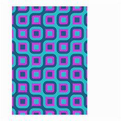 Blue Purple Squares Pattern Small Garden Flag (two Sides) by LalyLauraFLM