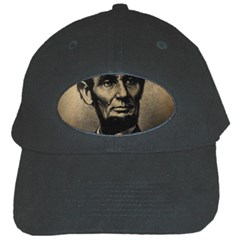 Vintage Civil War Era Lincoln Black Baseball Cap by bloomingvinedesign