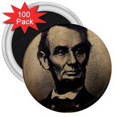 Vintage Civil War Era Lincoln 3  Button Magnet (100 Pack) by bloomingvinedesign
