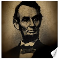 Vintage Civil War Era Lincoln Canvas 16  x 16  (Unframed) by bloomingvinedesign