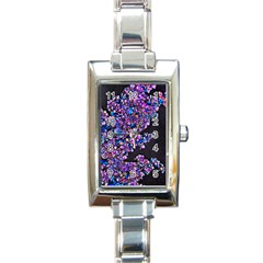 Abstract Lilacs Rectangular Italian Charm Watch by bloomingvinedesign