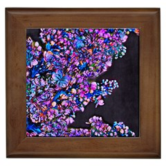 Abstract Lilacs Framed Ceramic Tile by bloomingvinedesign