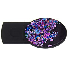 Abstract Lilacs 4gb Usb Flash Drive (oval) by bloomingvinedesign