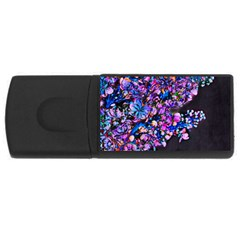 Abstract Lilacs 4gb Usb Flash Drive (rectangle) by bloomingvinedesign