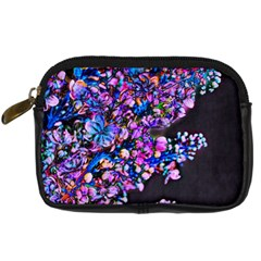 Abstract Lilacs Digital Camera Leather Case by bloomingvinedesign