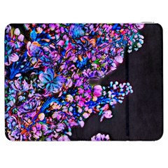 Abstract Lilacs Samsung Galaxy Tab 7  P1000 Flip Case by bloomingvinedesign