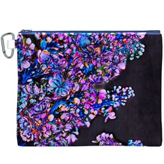 Abstract Lilacs Canvas Cosmetic Bag (xxxl) by bloomingvinedesign