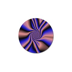 Purple Blue Swirl Golf Ball Marker by LalyLauraFLM