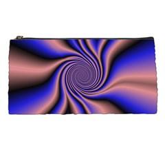 Purple Blue Swirl Pencil Case by LalyLauraFLM