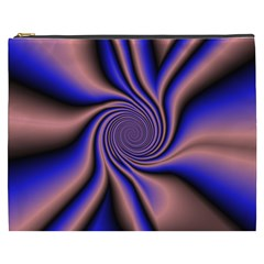 Purple Blue Swirl Cosmetic Bag (xxxl) by LalyLauraFLM