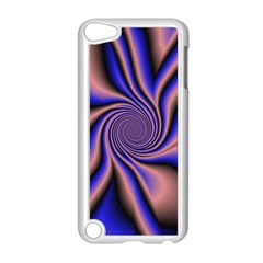 Purple Blue Swirl Apple Ipod Touch 5 Case (white) by LalyLauraFLM