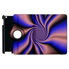 Purple Blue Swirl Apple Ipad 3/4 Flip 360 Case by LalyLauraFLM