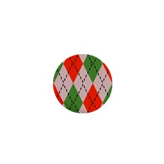 Argyle pattern abstract design 1  Mini Magnet by LalyLauraFLM