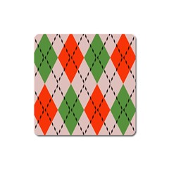 Argyle pattern abstract design Magnet (Square) by LalyLauraFLM