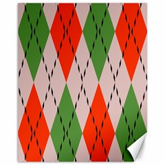 Argyle Pattern Abstract Design Canvas 11  X 14  by LalyLauraFLM