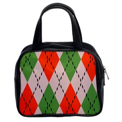 Argyle Pattern Abstract Design Classic Handbag (two Sides) by LalyLauraFLM