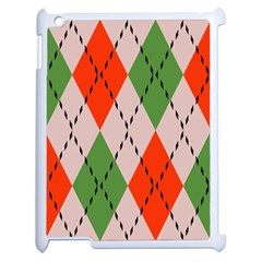 Argyle Pattern Abstract Design Apple Ipad 2 Case (white) by LalyLauraFLM