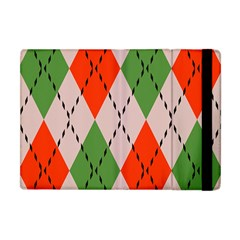 Argyle Pattern Abstract Design Apple Ipad Mini Flip Case by LalyLauraFLM