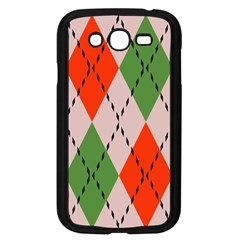 Argyle Pattern Abstract Design Samsung Galaxy Grand Duos I9082 Case (black) by LalyLauraFLM