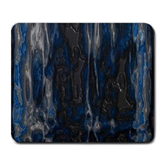 Blue Black Texture Large Mousepad by LalyLauraFLM