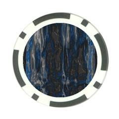 Blue Black Texture Poker Chip Card Guard by LalyLauraFLM