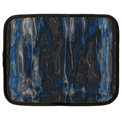 Blue black texture Netbook Case (Large)	 by LalyLauraFLM