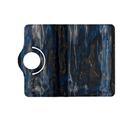 Blue Black Texture Kindle Fire Hd (2013) Flip 360 Case by LalyLauraFLM
