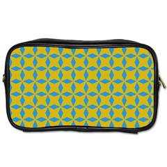 Blue Diamonds Pattern Toiletries Bag (two Sides) by LalyLauraFLM