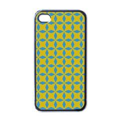 Blue Diamonds Pattern Apple Iphone 4 Case (black) by LalyLauraFLM