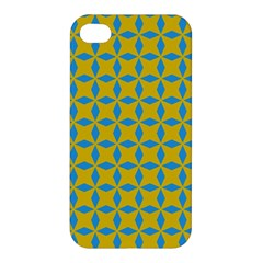 Blue Diamonds Pattern Apple Iphone 4/4s Hardshell Case by LalyLauraFLM