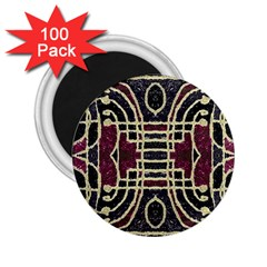 Tribal Style Ornate Grunge Pattern  2 25  Button Magnet (100 Pack) by dflcprints