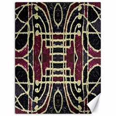 Tribal Style Ornate Grunge Pattern  Canvas 18  X 24  (unframed) by dflcprints