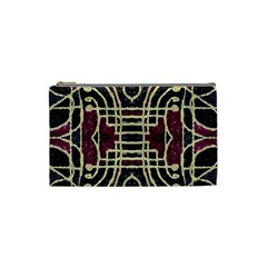 Tribal Style Ornate Grunge Pattern  Cosmetic Bag (small) by dflcprints