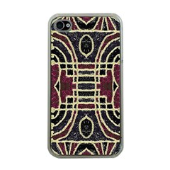 Tribal Style Ornate Grunge Pattern  Apple Iphone 4 Case (clear) by dflcprints