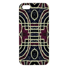Tribal Style Ornate Grunge Pattern  Apple Iphone 5 Premium Hardshell Case by dflcprints