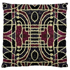 Tribal Style Ornate Grunge Pattern  Large Flano Cushion Case (one Side) by dflcprints