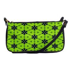 Blue Flowers Pattern Shoulder Clutch Bag by LalyLauraFLM