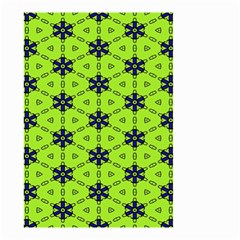 Blue Flowers Pattern Small Garden Flag (two Sides) by LalyLauraFLM
