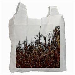 Abstract Of A Cornfield White Reusable Bag (one Side) by bloomingvinedesign