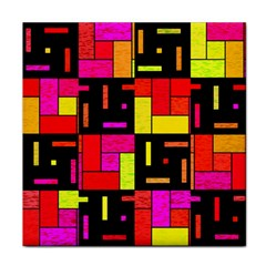 Squares And Rectangles Tile Coaster by LalyLauraFLM