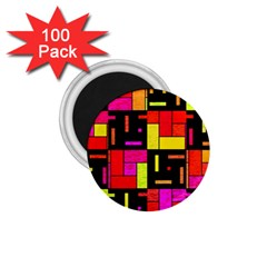 Squares and rectangles 1.75  Magnet (100 pack)  by LalyLauraFLM