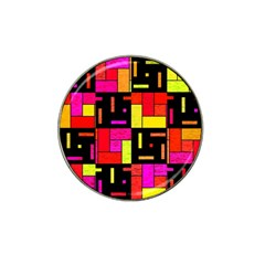 Squares And Rectangles Hat Clip Ball Marker (4 Pack) by LalyLauraFLM