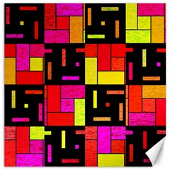 Squares And Rectangles Canvas 20  X 20  by LalyLauraFLM