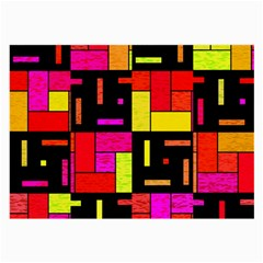 Squares And Rectangles Glasses Cloth (large, Two Sides) by LalyLauraFLM