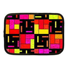 Squares And Rectangles Netbook Case (medium) by LalyLauraFLM