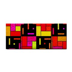 Squares And Rectangles Hand Towel by LalyLauraFLM